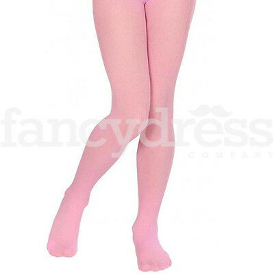 Pale Baby Pink Childrens School 40 Denier Opaque Girls Plain Full Tights Dance