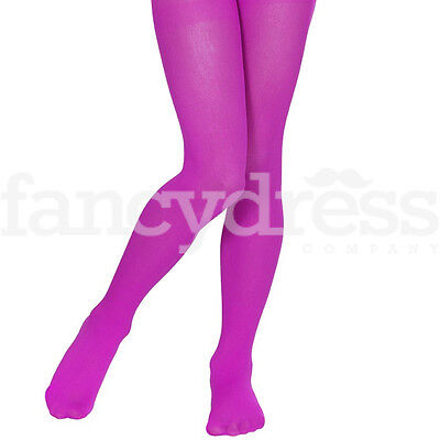 Pinky Purple Childrens School 40 Denier Opaque Girls Full Tights Dance NEW