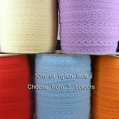10M Vintage Crochet Embroidered Trimming Sewing Lace Trim Ribbon Craft UK