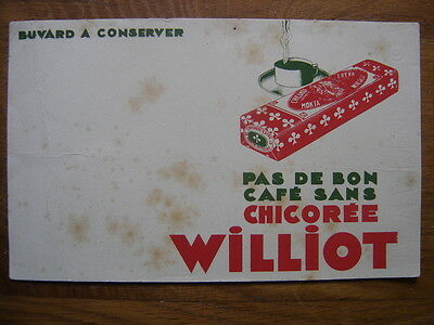 BUVARD chicoree cafe WILLIOT - DES ROUSSEURS TACHES