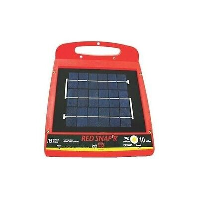 Red Snap'r Solar Power 10 Mile Fence Controller Charger ESP10M-RS