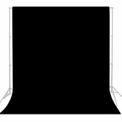 6 x 9 ft Black Muslin Backdrop Photography Photo Studio Screen Background