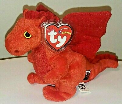 Ty Beanie Baby ~ Y DDRAIG GOCH the Dragon ~ UK Exclusive - MINT with MINT TAGS