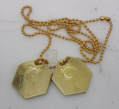 Battlestar Galactica Engravable Personalizable Gold Dog Tag Set of 2-FREE S&H
