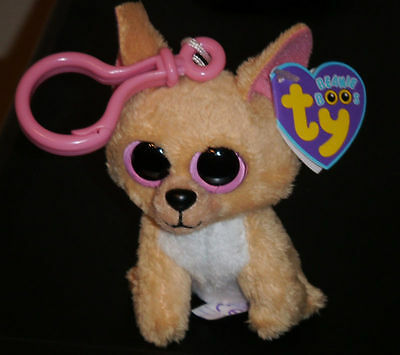 Ty Beanie Boos Key Clip ~ NACHO the Chihuahua Dog ~ MINT with MINT TAGS~ RETIRED