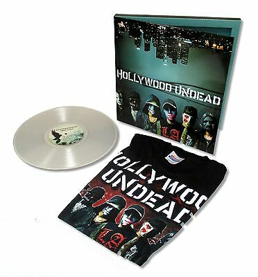 Hollywood Undead Swan Songs Vinyl Record T Shirt Sticker Gift Set New Official