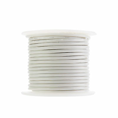 """14 AWG Gauge Stranded THHN Wire White 100 ft 0.109"""" 600 Volts Building Wire"""