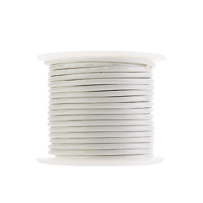 "12 AWG Gauge Stranded THHN Wire White 50 ft 0.128"" 600 Volts Building Wire"