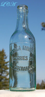 Scarce NORTH YAKIMA WASHINGTON hand blown soda bottle MINERAL SPRINGS Co
