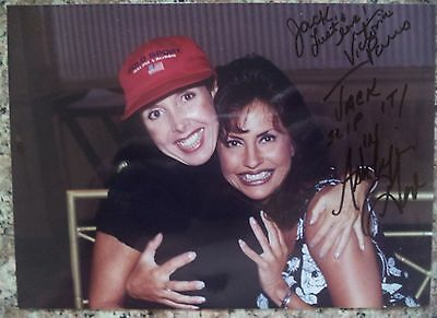 "VICTORIA PARIS/ASHLYN GERE HAND SIGNED 7""x5"" PHOTO SUPERSTARS"