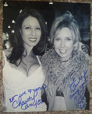 "VICTORIA PARIS/CHRISTY CANYON HAND SIGNED 8""x10"" PHOTO SUPERSTARS"