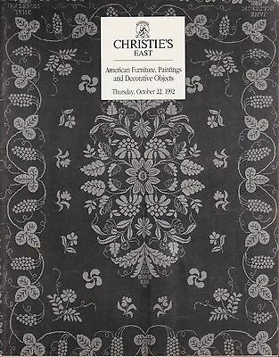 Christie's East American Furniture Paitnings Decorative Objects October 22 1992
