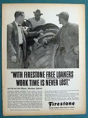 Original 1958 Firestone Ad Photo Endorsed by Fred & John Ullmann of Johnstowe CO