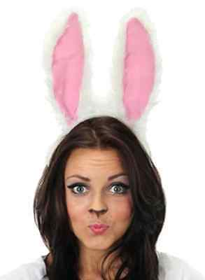Moving Rabbit Ears White Bunny Easter Fancy Dress Up Halloween Costume Accessory