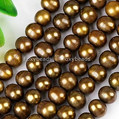 """7-8mm Cultured Freshwater Pearl Oval Loose Beads 15"""" F8"""