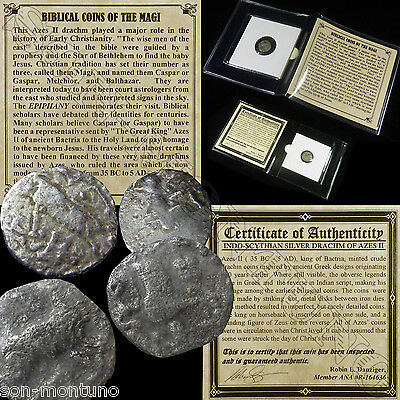 (1) SILVER Ancient BIBLICAL COIN OF THE MAGI - Roman Bible Greek Jesus 35BC-5AD