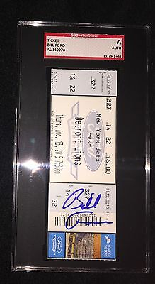 Bill Ford Signed Detroit Lions Full 2015 Ticket Sgc Authenticated