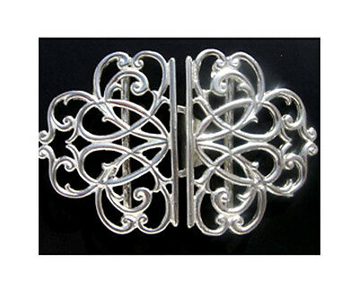 Hallmarked Sterling Silver Nurses Buckle. Brand New Solid Silver Made In The Uk