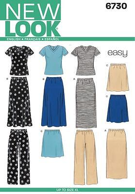 New Look Sewing Pattern Misses' Knit Top Skirt & Trousers  Sizes S - Xl  6730