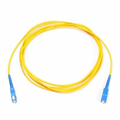 3m SC to SC Fiber Optic SingleMode 9/125 Optical Simplex Patch Cord Cable Yellow