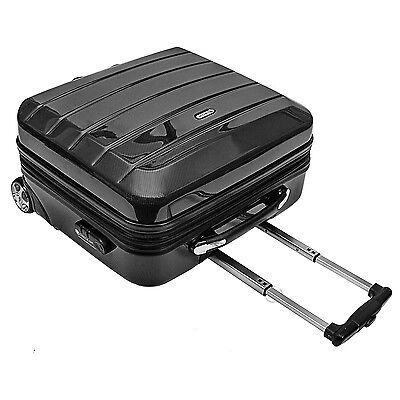 Pilotenkoffer Reisetrolley Trolley Bordcase Cabin Case 'London' - Carbon Schwarz