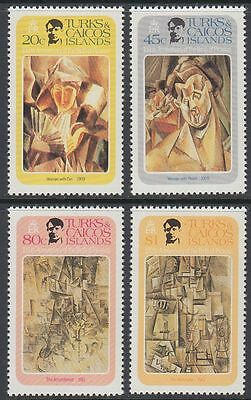 Turks & Caicos 1981 ** Mi.537/40 Gemälde Paintings Picasso [sq5880]