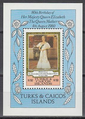 Turks & Caicos 1980 ** Bl.23 Queen Mother Elizabeth Königin Elisabeth [sq5882]