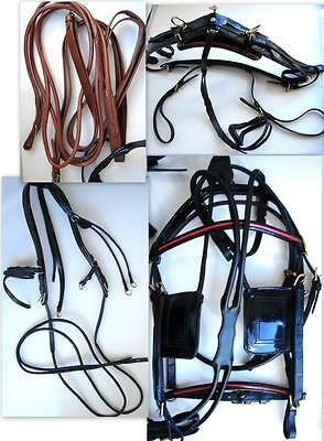 Leather HORSE Harness Black Patent Silver Royal Show Driving Horse Parade Ss Ftg