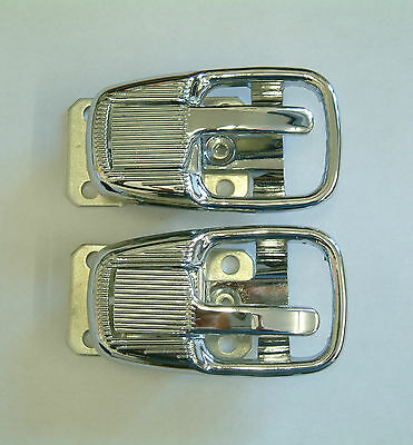 Inner door opening handle with surrounds in chrome VW Beetle 66-79