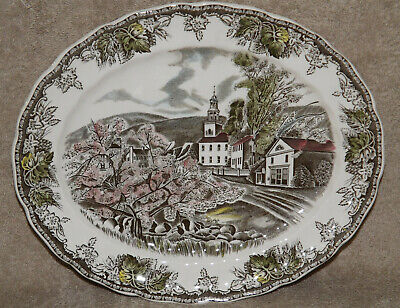 "Johnson Brothers Friendly Village ""The Village Green"" Oval Serving Platter"