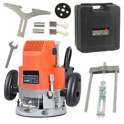 Electric Plunge 3HP Power Router Wood Trimmer Work Shop DIY w/ Carrying Case