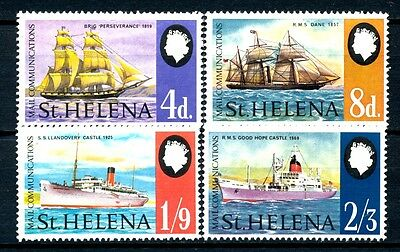 "No: 41768 - ST. HELENA - ""SHIPS"" - LOT OF 4 STAMPS - MNH!!"