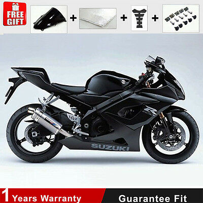 Injection Fairing Set 05 06 for Suzuki GSXR 1000 K5 K6 Black Plactic Bodywork
