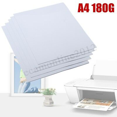 20 Sheets A4 180 gsm New Gloss Glossy Photo Paper For Inkjet Printer 210 x 297mm