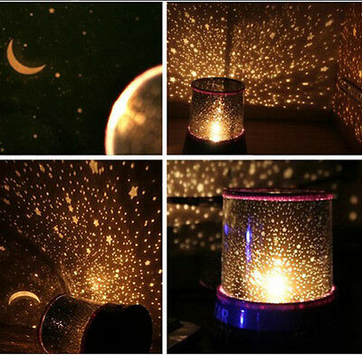 Beautiful Skyful Stars LED Night Light Projector Lamp HI5 Baby Sleep Night lamp
