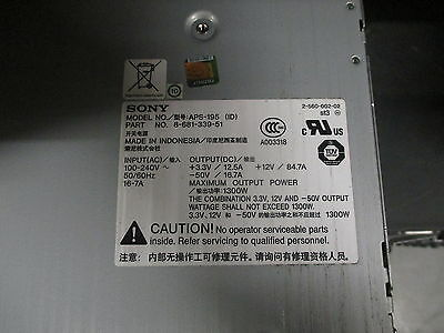 Cisco Sony APS-195 Power Supply 8-681-339-51 Catalyst 4500 1300W FROM 4507R-E