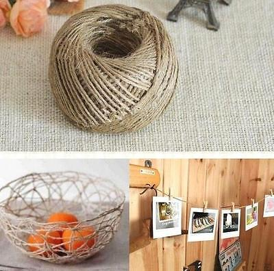 FD107 Twisted Burlap String Natural Ribbon Fiber Jute Twine Rope Toy 3-Ply 10M .