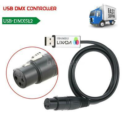 USB to DMX 512 Interface Adapter PC Computer LED Stage Lighting Controller P2HU