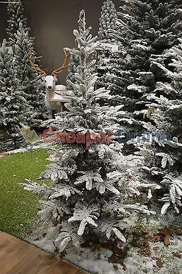 6ft (180cm) Natural Look Snow Flocked Snowy Spruce Christmas Tree
