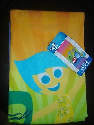 "NEW Inside Out beach towel 28"" x 58"" 100% cotton Joy Anger Disgust Sadness Fear"