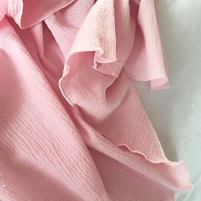 Pale Pink Muslin Swaddling Blanket - Light & Airy- XL Size Adapts With Child