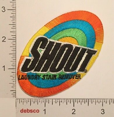 Vintage SHOUT Laundry Stain Remover Embroidered PATCH