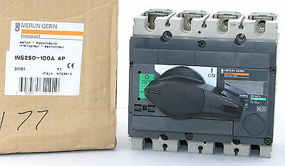 Merlin Gerin INS250-100A 4P Interpact Disconnect Switch