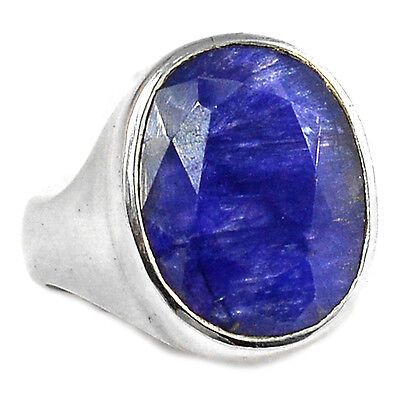 Indian Sapphire 925 Sterling Silver Ring Jewelry s.7.5 SAPR942