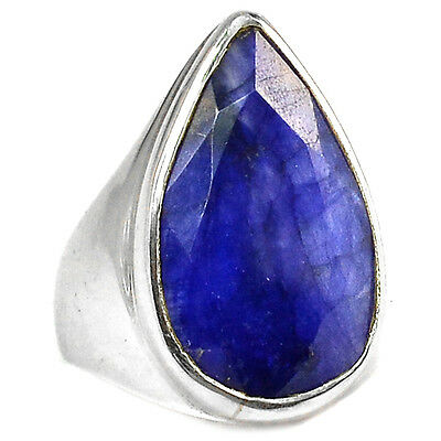 Indian Sapphire 925 Sterling Silver Ring Jewelry s.7.5 SAPR948