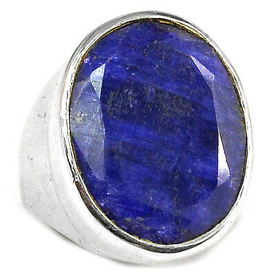 Indian Sapphire 925 Sterling Silver Ring Jewelry s.6.5 SAPR947
