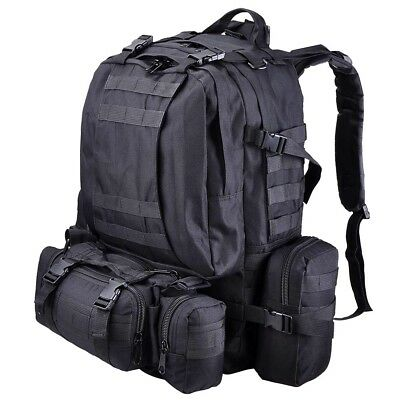 Outdoor 55L Military Molle Tactical Backpack Oxford Sports Camping Hiking Bag