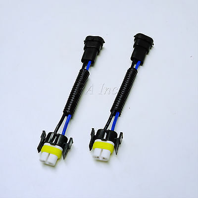 2 pcs H11 H11B CERAMIC WIRE HARNESS LIGHT BULB PLUG'N PLAY SOCKETS