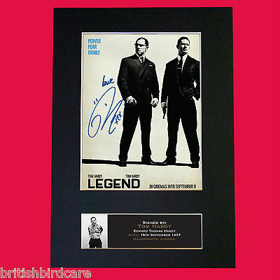 LEGEND KRAYS Tom Hardy Reproduction Signed Autograph Mounted Photo PRINT A4 575