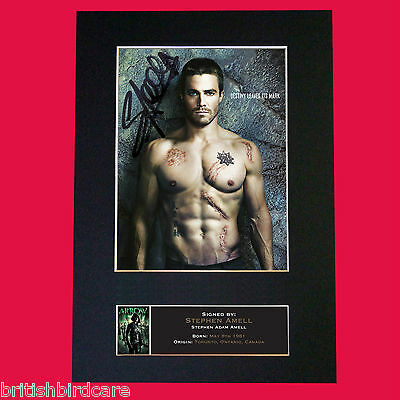ARROW Stephen Amell Quality Signed Autograph Mounted Photo PRINT A4 576